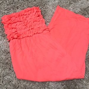 CORAL SWIMSUIT COVER UP- STRAPLESS